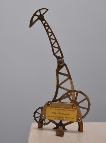 In 2011, the Company received an award from Lithuanian Confederation of Industrialists as a Successfully Working Company.