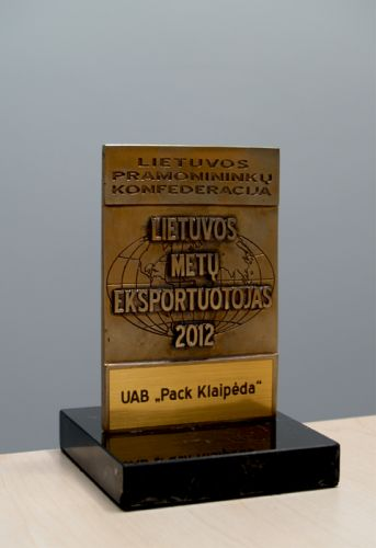 In 2012, the Company received an award from Lithuanian Confederation of Industrialists as an Exporter of the Year.